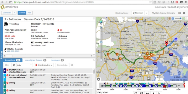 Omnitracs solution covers all truck classes and provides a convenient dashboard to view...