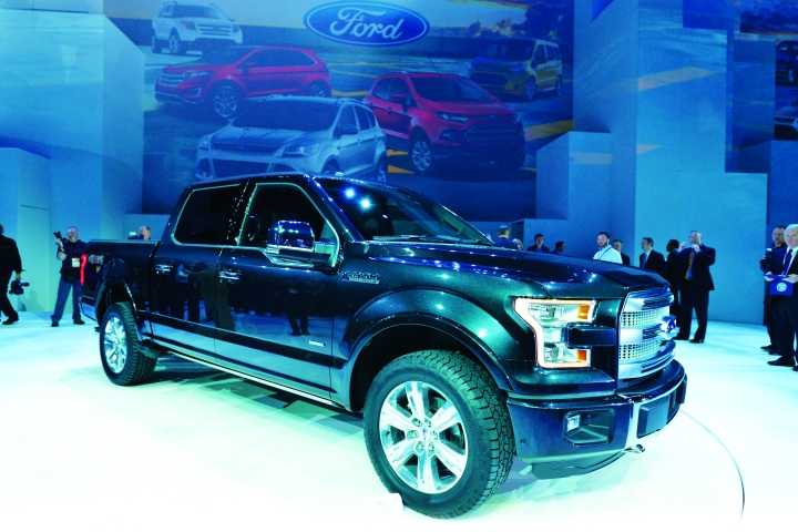 Ford introduced the 2015 Ford F-150 at the Detroit Auto Show, noting that it will utilize an all-new, high-strength, military-grade, aluminum alloy body and will weigh 700-pounds less than previous models.  -