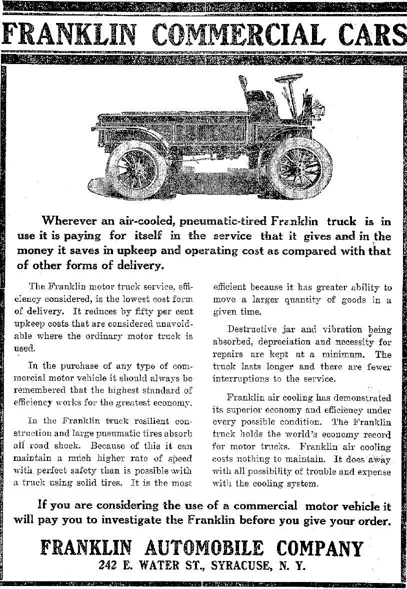 Time Capsule: Circa 1911 Franklin Commercial Truck