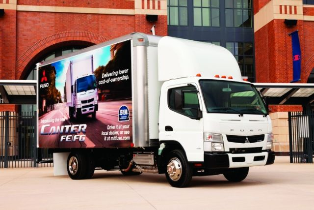The cabover is gaining popularity in medium-duty truck fleets.  - Photo courtesy of Mitsubishi Fuso Truck of America