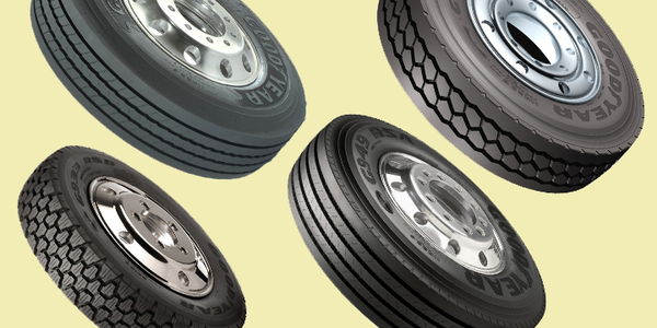 (Clockwise from top l.) Goodyear's G661, G731, G949, and G933