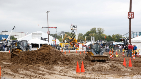 The ICUEE show features hands-on demonstrations of utility and construction equiment both on the...