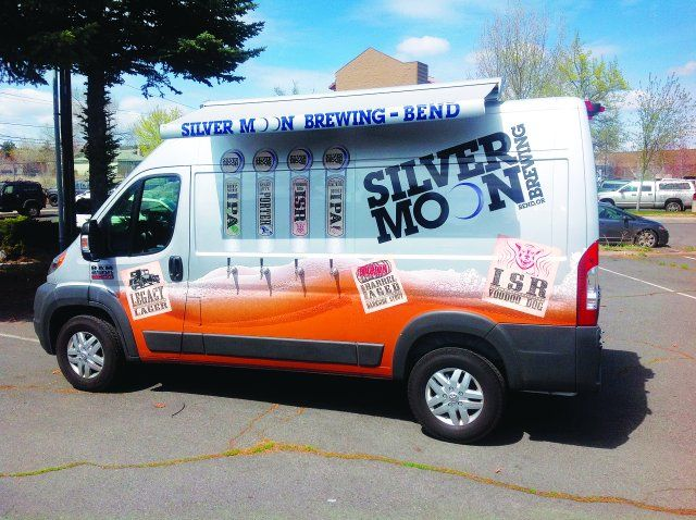 The vehicle graphics on the Moon Rover are bold and eye-catching, working to serve as a mobile billboard when the vehicle hits the road for local events, including fund-raisers and races. (PHOTO: Silver Moon Brewing) -