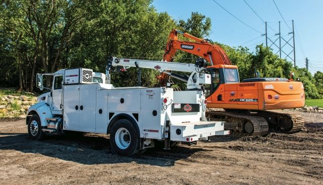 For its service truck fleet, one of the models utilized by McKenna General Engineering Inc. is the Dominator II mechanics truck. (PHOTO: IMT) -