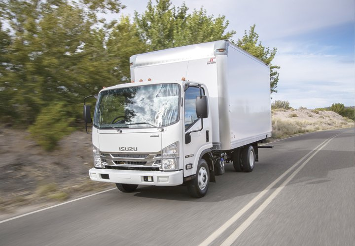 The 2016 Isuzu NPR Diesel features a standard 33.5-inch chassis width, which allows for upfitting of standard bodies. (Photo: ICTA) -