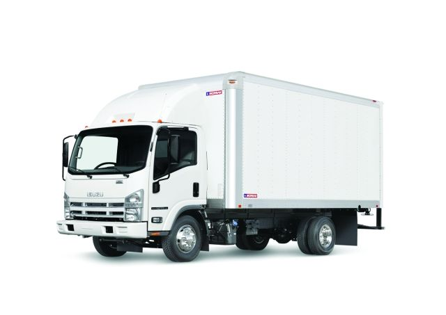 The Isuzu N-Series cabover truck is available in both gasoline and diesel models.  - Photo courtesy of Isuzu Commercial Truck of America