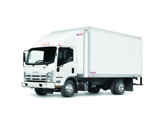 The Isuzu N-Series cabover truck is available in both gasoline and diesel models.