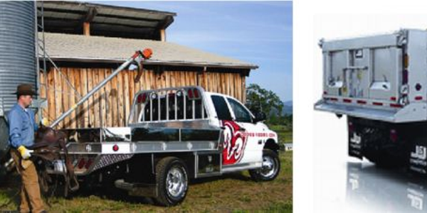 (left) Aluminum truck body; (right) Stainless steel truck body