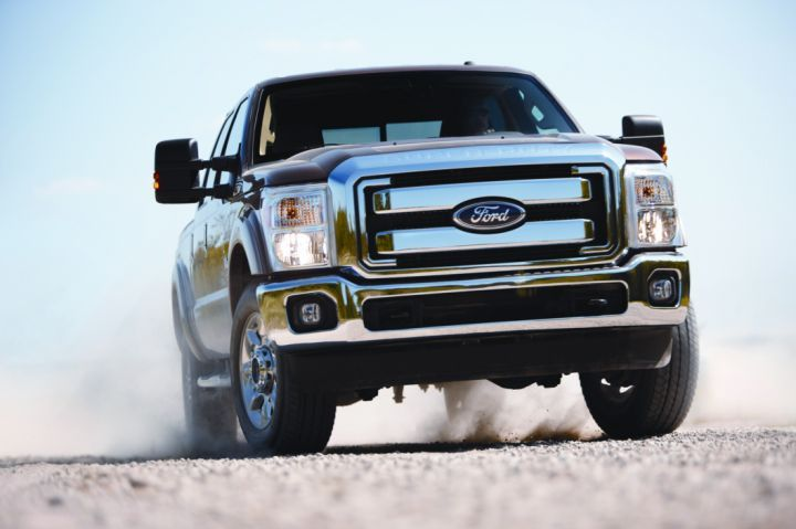 Ford's new 2011 F-Series Super Duty features the all-new Ford-designed and Ford-built 6.7L Power Stroke V-8 turbocharged diesel engine that can accommodate up to B-20 blends. -