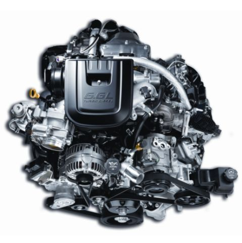 The General Motors 6.6L V-8 turbo diesel engine, offered on 2011 Chevrolet Silverado HD trucks, is ASTM-grade B-20-compatible. NOx emissions are controlled via a selective catalyst reduction aftertreatment system that uses urea-based diesel exhaust fluid. -