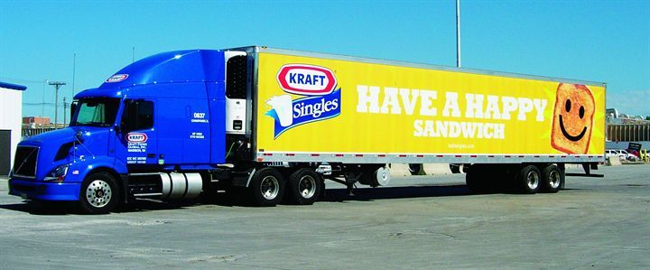 Kraft requires all carriers to shut off tractor engines while parked at its shipping locations. -