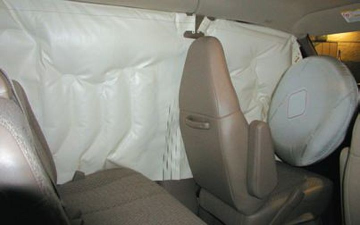 Head curtain side airbags are standard on passenger vans.  -