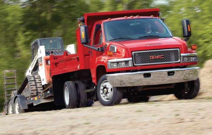 Medium-duty trucks such as this GMC Topkick can be ordered with the LPI fuel system.  -