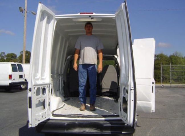 Vision Manufacturing's HCV van features a complete van chassis instead of a cutaway, incorporating the factory door hardware and electronics. The walk-thru interior has six feet of headroom and can be configured with a variety of rack and bin packages already available to end users. -