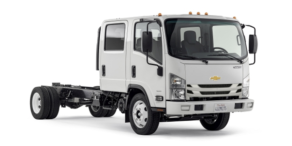 The Chevrolet Low Cab Forward will debut in seven models, ranging from Class 3-5. (Photo...