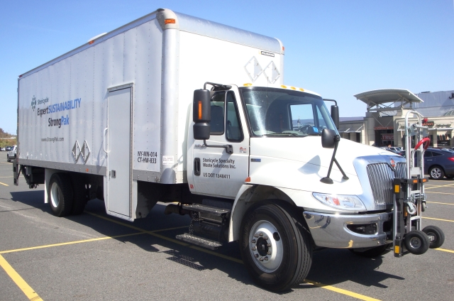 Local delivery fleets use a variet of trucks, from cargo vans to box trucks to trucks with trailers (pictured). Photo courtesy of Wikimedia Commons. -