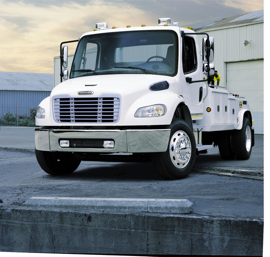 Freightliner AirLiner family of rear suspension options keeps weights lower and payloads higher. Maintenance-friendly features include double-bonded rubber bushings on moving joints.  - Photo courtesy of Frieghtliner
