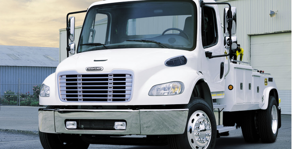 (Above) Freightliner AirLiner family of rear suspension options keeps weights lower and payloads...