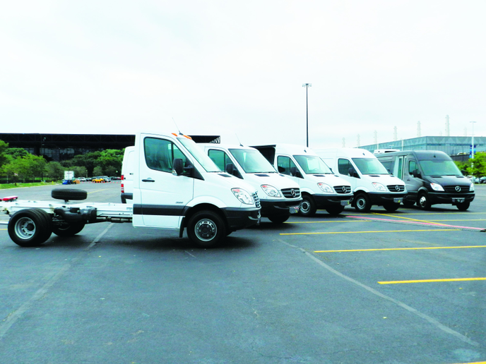 Sprinter body styles include Cargo Van, Crew Van, Passenger Van, Cab Chassis, and MiniBus.  -