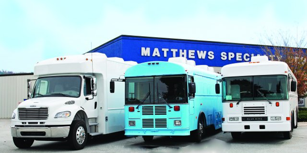 Matthews Specialty Vehicles converted three vehicles into bloodmobiles and sent them to West...
