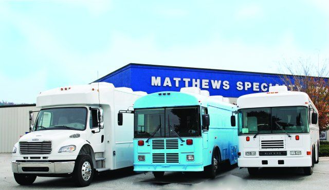 Matthews Specialty Vehicles converted three vehicles into bloodmobiles and sent them to West Africa to combat the Ebola virus. (PHOTO: MATTHEWS SPECIALTY VEHICLES) -