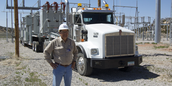 Jimmy Bekis, transportation superintendent for the Navajo Tribal Utility Authority (NTUA) is...