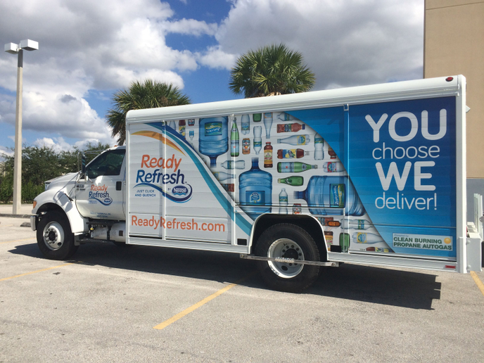Nestlé Waters North America added 155 propane autogas trucks to its fleet after piloting 29 vehicles in 2014 and 2015. (PHOTO: Nestle Waters USA)  -