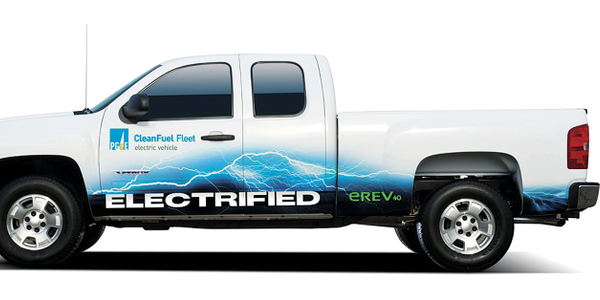 Photos courtesy of VIA Motors. PG&E has been testing the plug-in hybrid pickups and is likely to...