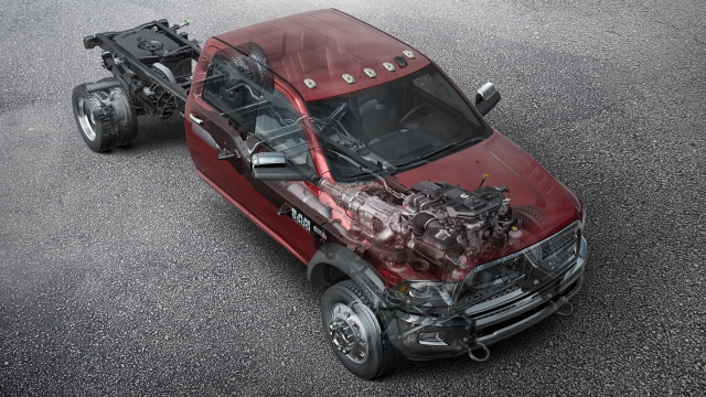 Ram Trucks now offers right- and left-hand power take-off (PTO) options on Ram 3500, 4500, and 5500 Chassis Cab trucks. 