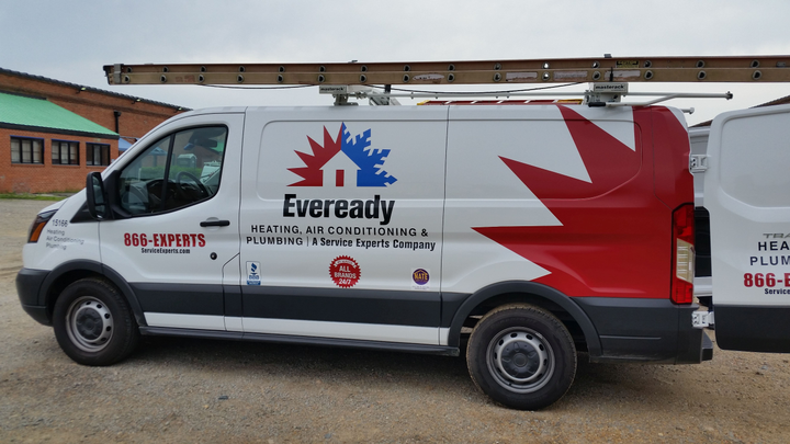 The 2,000-plus vehicle Service Experts HVAC fleet, which includes the Eveready brand, supports residential and commercial HVAC repair and installation services. (PHOTO: Service Experts) -