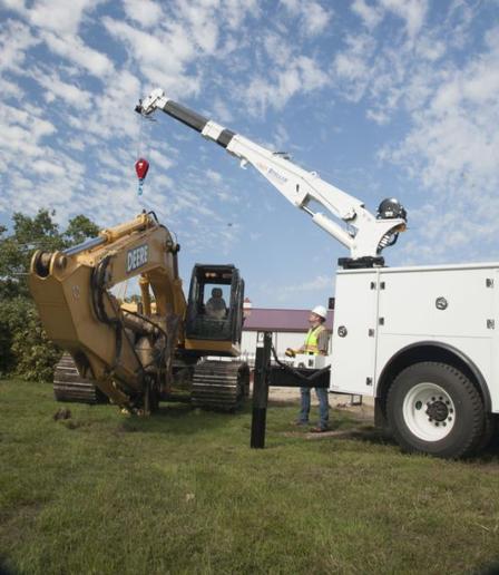 Stellar's CTDPlus radio remote control system is one innovative solution they provide for boom crane upfits. (Photo: Stellar) -