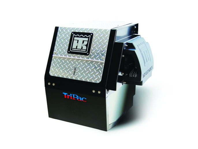 Thermo King offers the TriPac hybrid idle-reduction and temperature management system, which features a 1,000-hour maintenance interval.  - Photo courtesy of Thermo King
