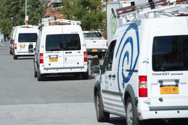 Each unit in the 20,000-plus vehicle fleet for Time Warner Cable travels approximately 13,000 miles each year. (PHOTO: TIME WARNER CABLE) -