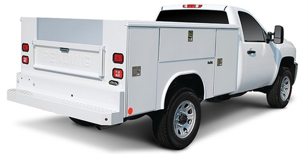 Upfits, such as the aluminum service body by Reading Truck Body pictured, impact overall...