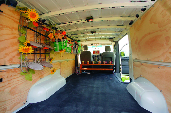 For Kim Foren, the Mercedes-Benz Sprinter fits in perfectly with her business model and her city's green credentials. -