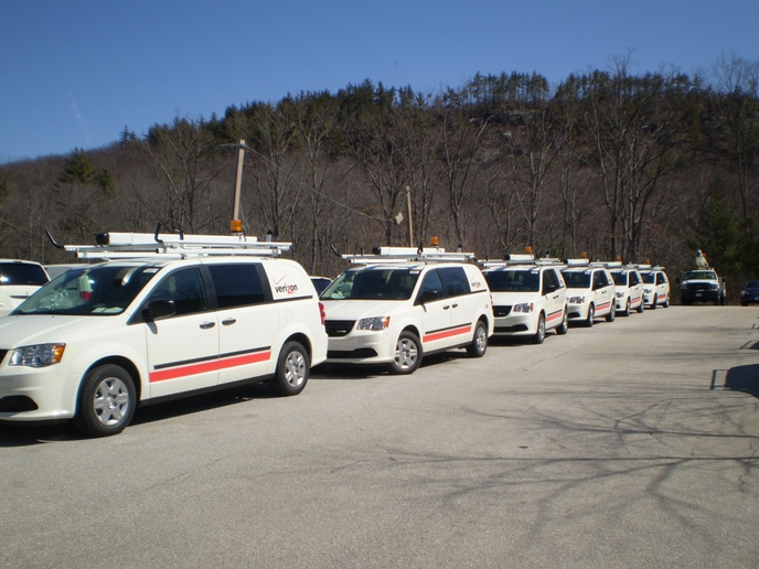 Verizon's fleet of 1,000-plus new Ram CV's are designed for the company's FiOS installation technicians, fitted with Sortimo modular units.  -