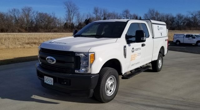 Vertiv operates a number of vehicles, but is currently under contract with Ford for all of its replacement units. (Photo courtesy of Vertiv) -
