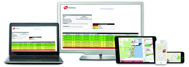 WEX Telematics products and services are designed to increase safety, efficiency, and compliancy for fleets of any size, including Class 1-8 trucks. (Image courtesy of WEX Telematics) -