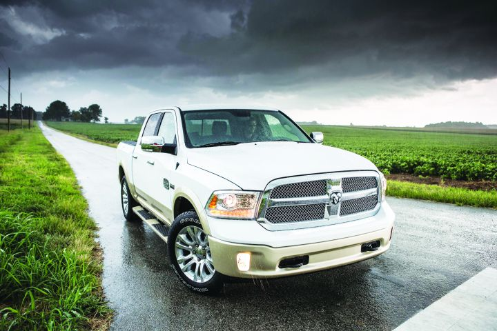 The MY-2013 Ram 1500 features a class-exclusive, 8-speed automatic transmission standard with its 3.6L V-6 powertrain. -
