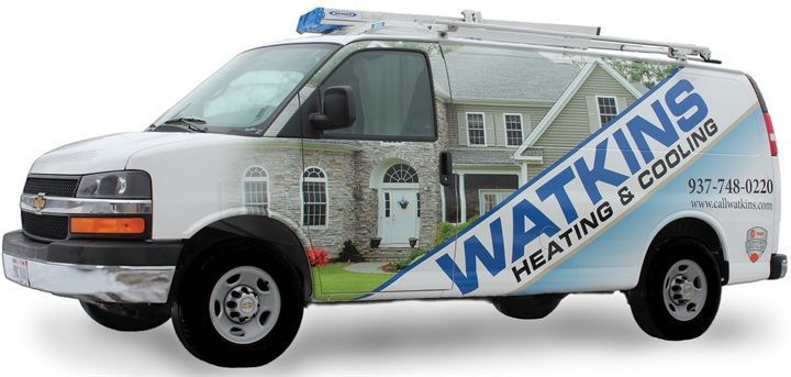 The 15-vehicle HVAC fleet turned to alternative fuels to save on changing fuel expenses. (PHOTO: Watkins Heating & Air) -