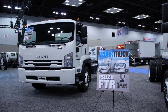 Isuzu Commercial Truck of America took home Work Truck's 2018 Medium-Duty Truck of the Year award for the FTR. (Photo by Lauren Fletcher) -
