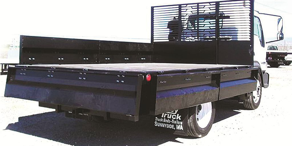 A contractor's dump is similar to a standard flatbed with short (12- to 24-inch) solid sides...