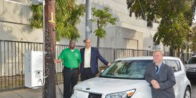 L.A. Tests EV Charging Stations Connected to Light Poles
