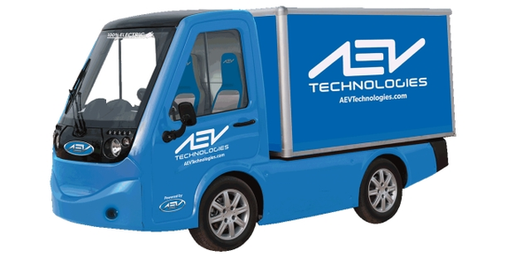 Image of 411 electric utility vehicle courtesy of AEV Technologies.