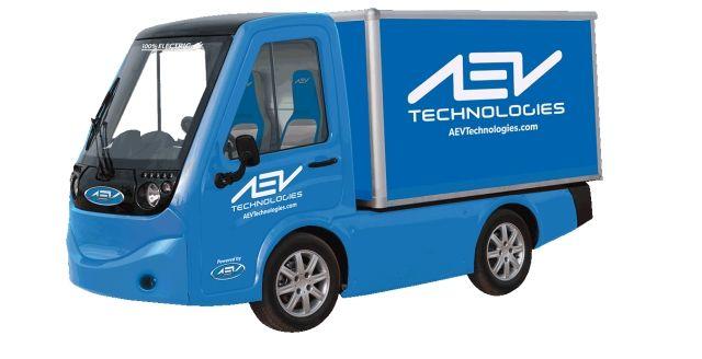 Image of 411 electric utility vehicle courtesy of AEV Technologies. -