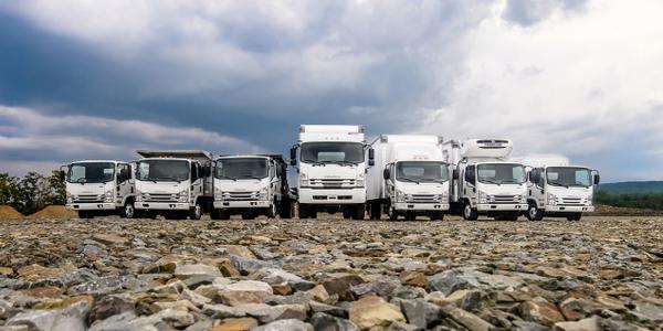 Image of Isuzu family of trucks courtesy of Isuzu Commercial Truck of America