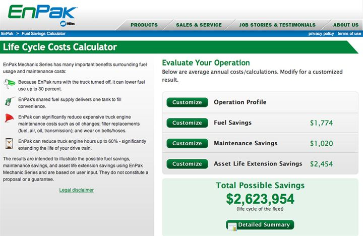 Miller Launches New EnPak Life Cycle Costs Calculator