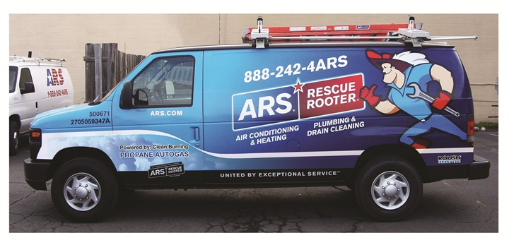 ARS/Rescue Rooter Rolls Out Propane Autogas Ford Vans