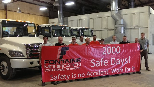 Fontaine Celebrates Safety Milestone