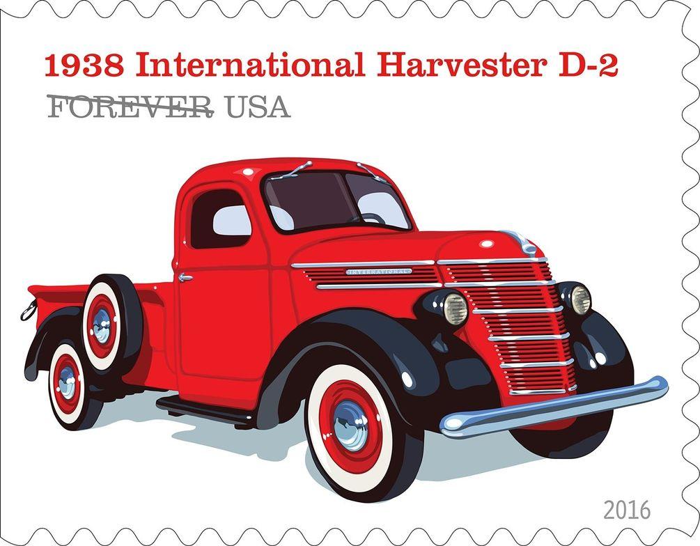 The 1938 International Harvester D-2 had a distinct barrel-shaped grille.